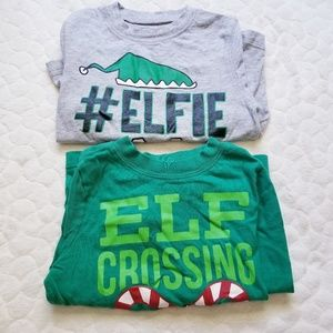 Christmas long sleeved shirts old navy elf 3t